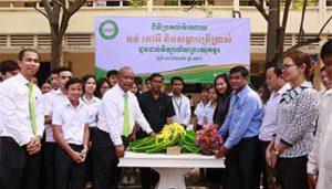 PRASAC Donates Concrete Benches and Study Materials  to Preah Yukunthor High School