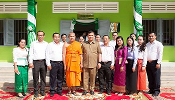 PRASAC Officially Inaugurated its 22nd Library at Svay Chrum School