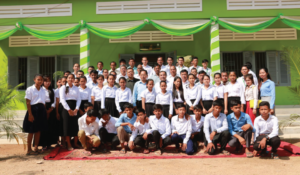 PRASAC Officially inaugurated 25th Library at Andong Samret School in Takeo Province
