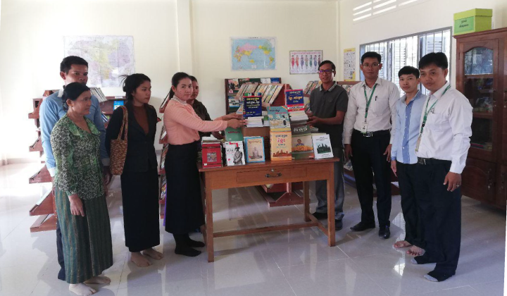 PRASAC installed books and equipment at Banteay Srei primary school