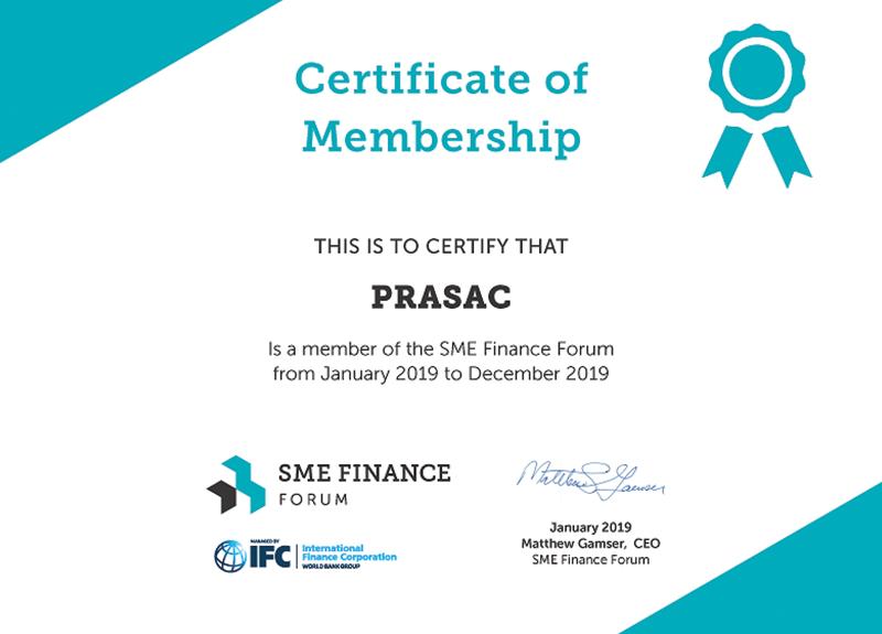 SME Finanace Forum Certificate 2019