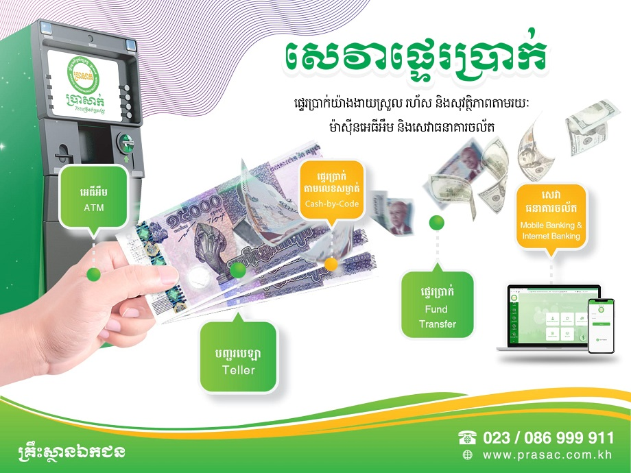 PRASAC Money Transfer Service Facilitates the Clients' Growth​