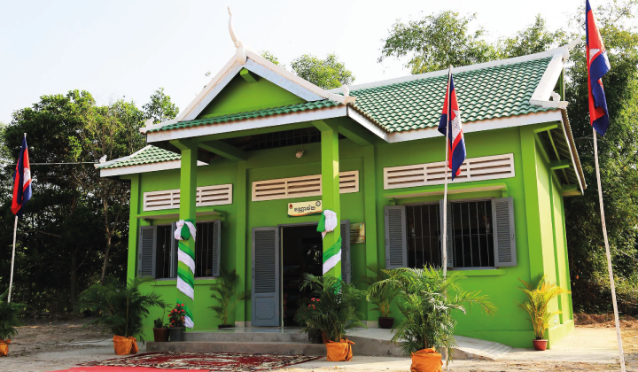 PRASAC Inaugurated a New Library in Chantrea District in Svay Rieng Province