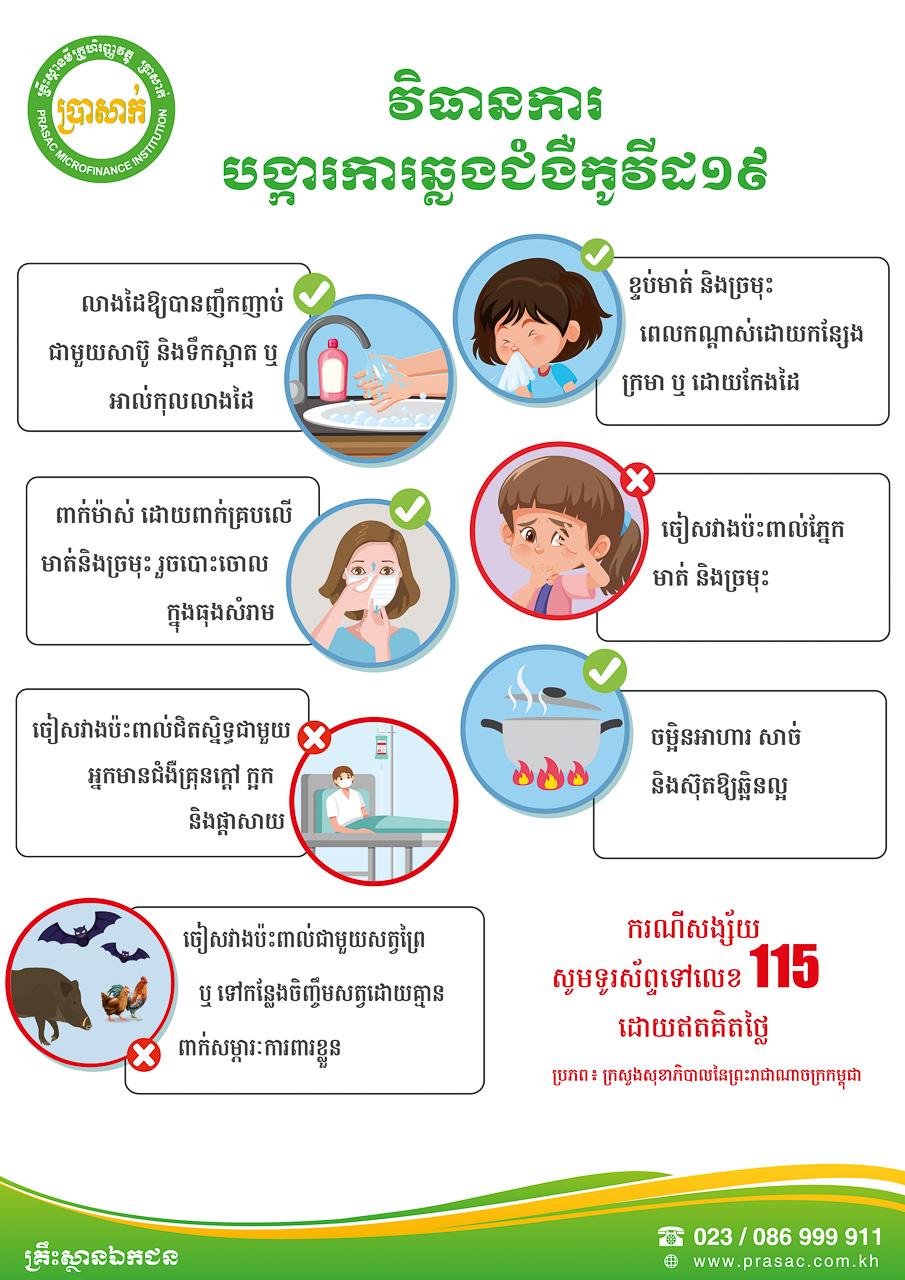 Poster of Covid-19 Prevention Tips